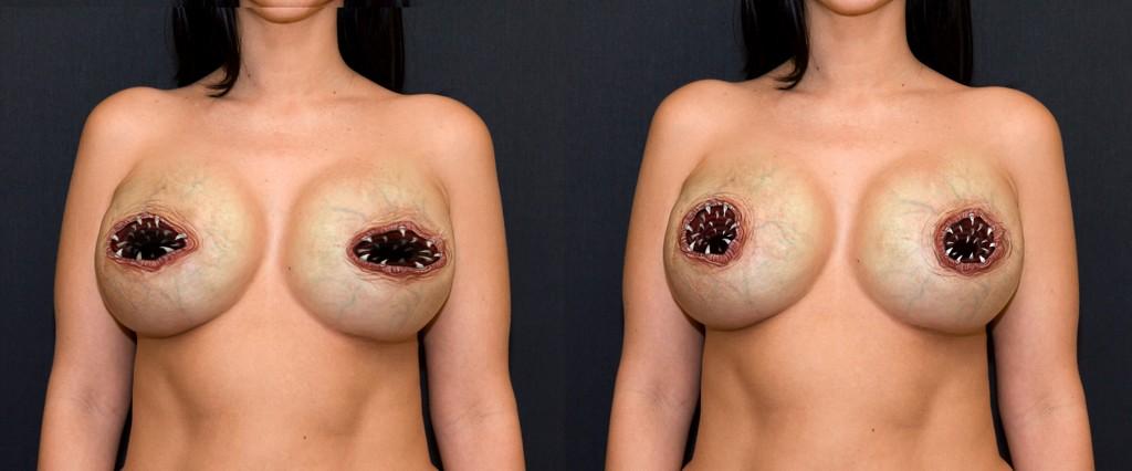 Hot tattooed tits handjob